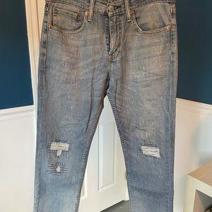 Levi's 511 Slim, 31/32, Blue Wash ,Distressed